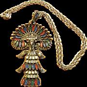 Larry Vrba Castlecliff Quetzal Bird Necklace