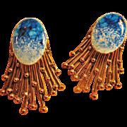 Blue Enamel Matisse Renoir Earrings