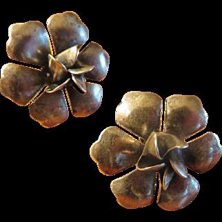 Lovely Sterling Floral Earrings