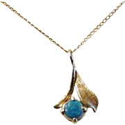 14K Gold and Opal Necklace