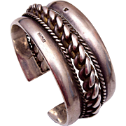 Heavy Sterling Hallmarked Cuff Bracelet