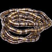 3 Tone Flexible Necklace or Bracelet