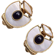 Black and White Mother of Pearl Earrings
