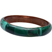 Green Malachite Bangle Bracelet