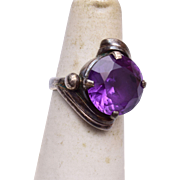 Sterling and Amethyst Ring Size 7