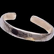 Sterling Engraved Cuff Bracelet