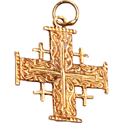 14kt Gold Jerusalem Cross
