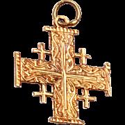 14kt Gold Jerusalem Cross