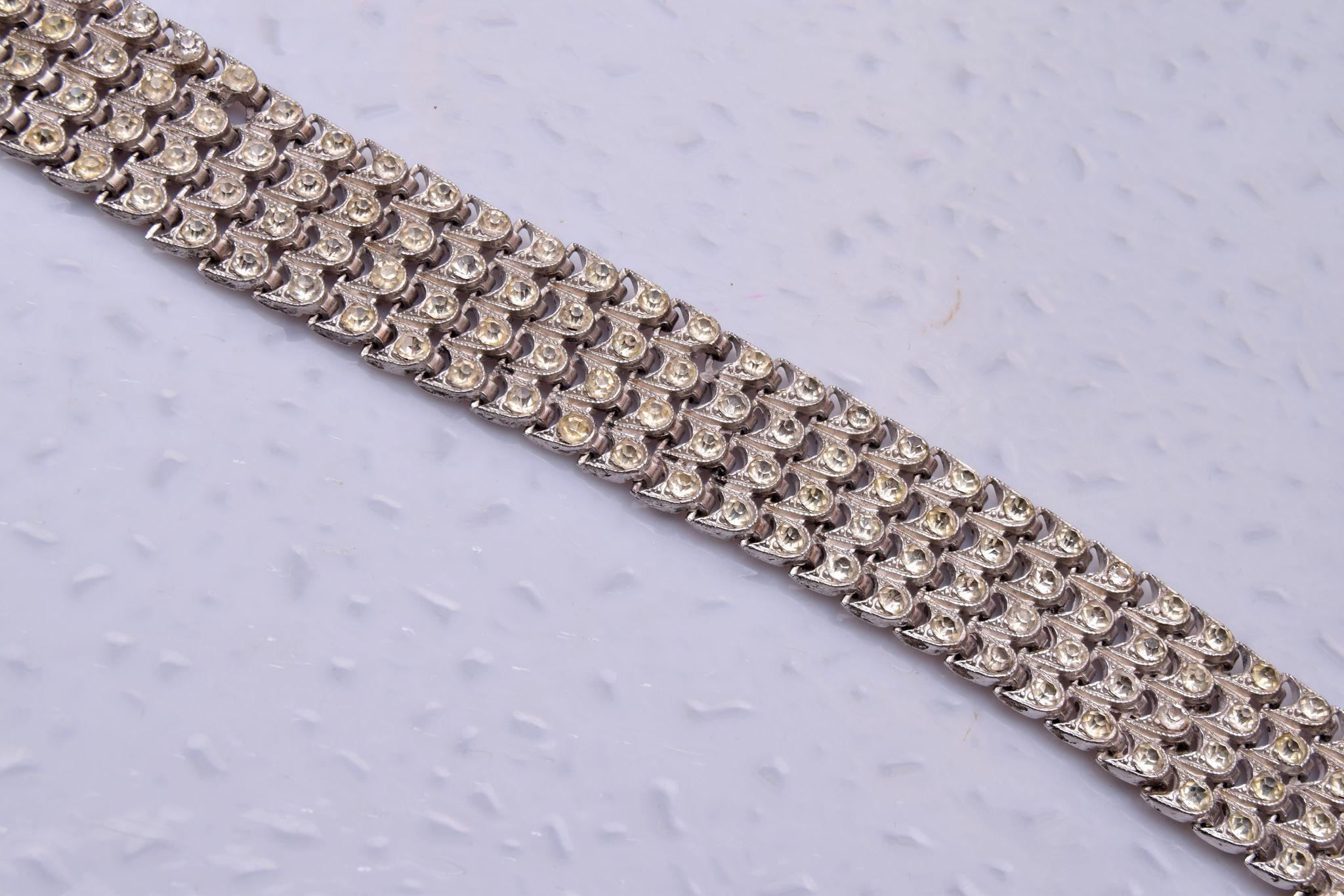 Sterling and Rhinestone Bracelet