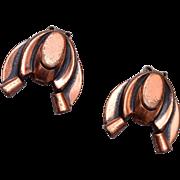 Renoir Copper Earrings