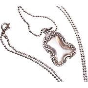 Sterling Pendant Not Etched