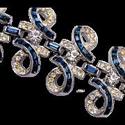 Coro Blue Baguette Bracelet