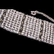 Wide Prong Set Rhinestone Bracelet