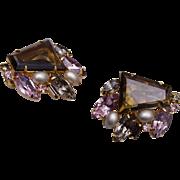 Beautiful Trapezoid Unfoiled Open Backed Earrings