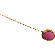 14kt gold and Agate Stick Pin