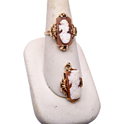 10kt Gold Cameo Ring and Pendant Set