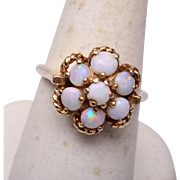 14kt Gold and Opal Ring Size 7-1/2