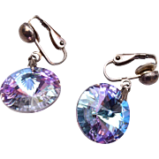 Sparkly Rivoli Earrings