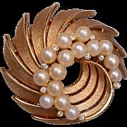 Trifari Pearl Brooch