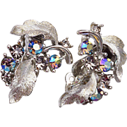 Lisner Aurora Borealis Rhinestone Earrings