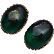 Alice Caviness Green Glass Earrings