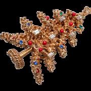 ART 6 Candle Christmas Tree Brooch