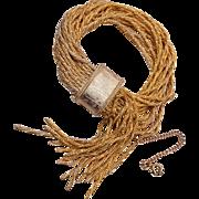 16 Strand Bracelet with Dangles
