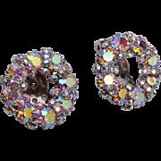 Weiss AB Rhinestone Earrings