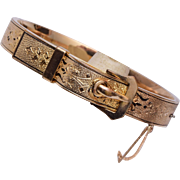 Gold Filled Hinged Buckle Bracelet