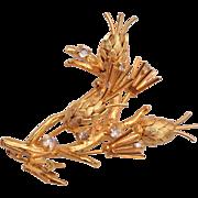 Vendome Gold and Rhinestone Brooch