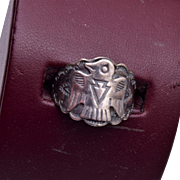 Sterling Thunderbird Ring Size 7