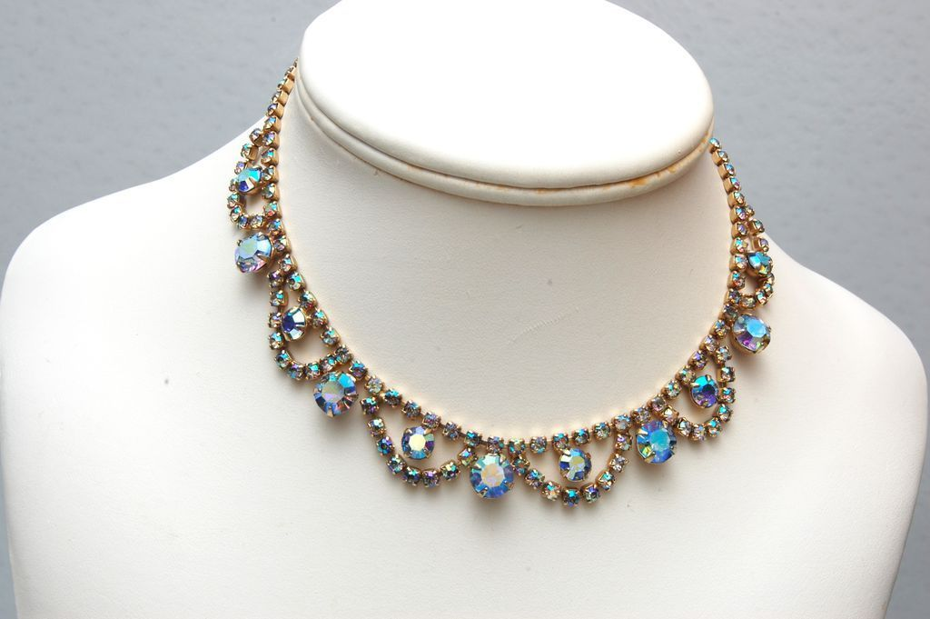 AB Rhinestone Necklace
