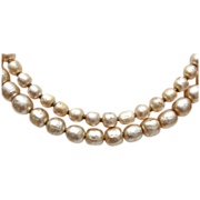 2 Strand Miriam Haskell Baroque Pearl Necklace