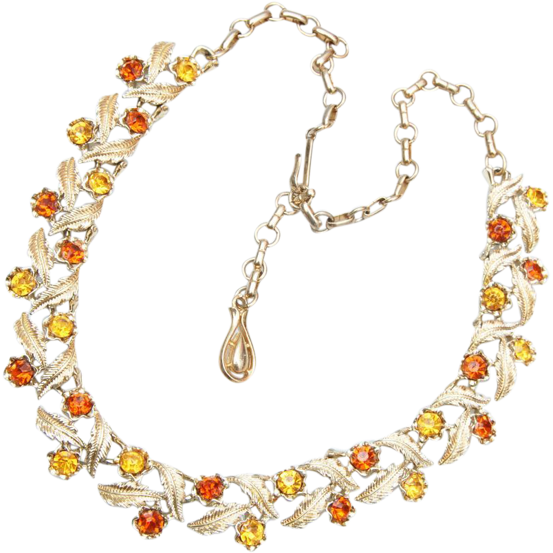 Coro Topaz and Brown Necklace