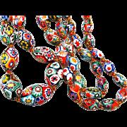 Colorful Millefiori Glass Beaded Necklace