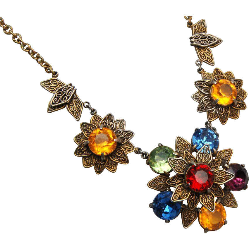 Colorful Filigree Necklace