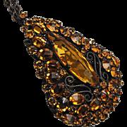 Schreiner Upside-Down Topaz Rhinestone Necklace
