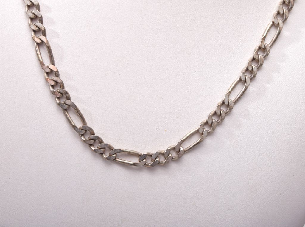 Sterling Figaro Chain Marked Ka 1772 From Wrightglitz On