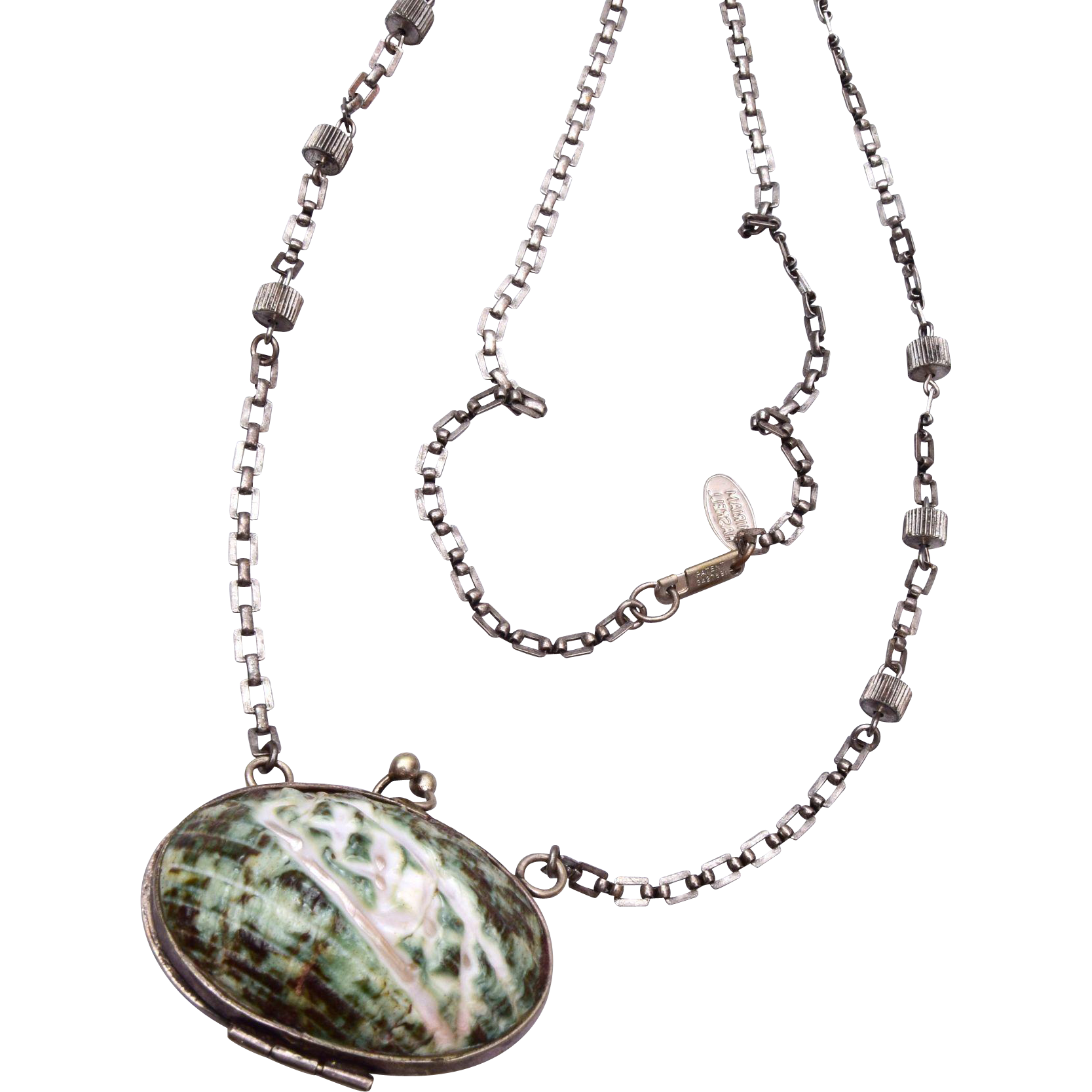 Miriam Haskell Shell Purse Necklace