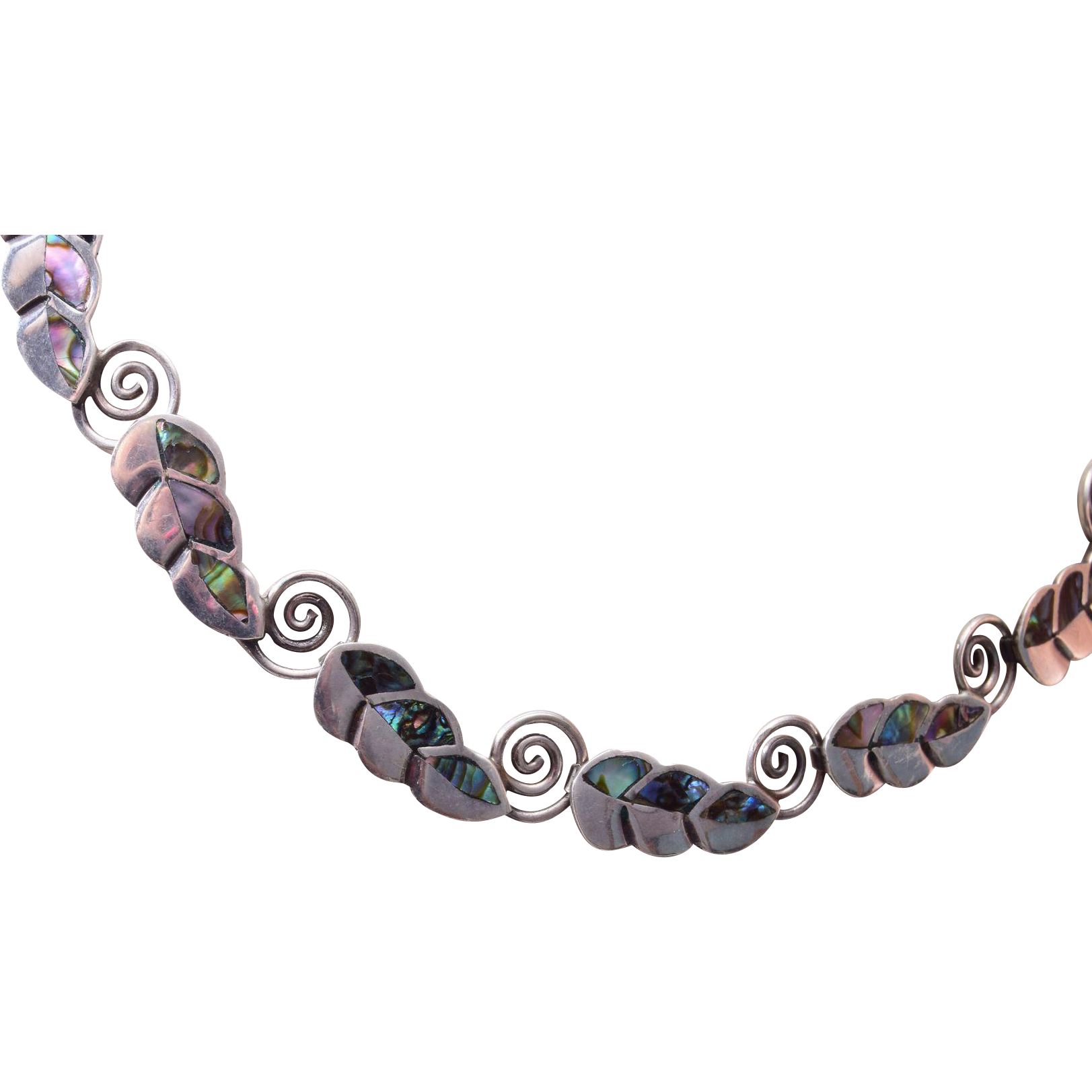 Sterling and Abalone Necklace