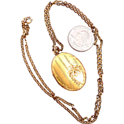 JMH & Co Pin Stripe Locket  - Gold Filled
