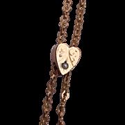 Heart Shaped Gold Filled Slide Necklace