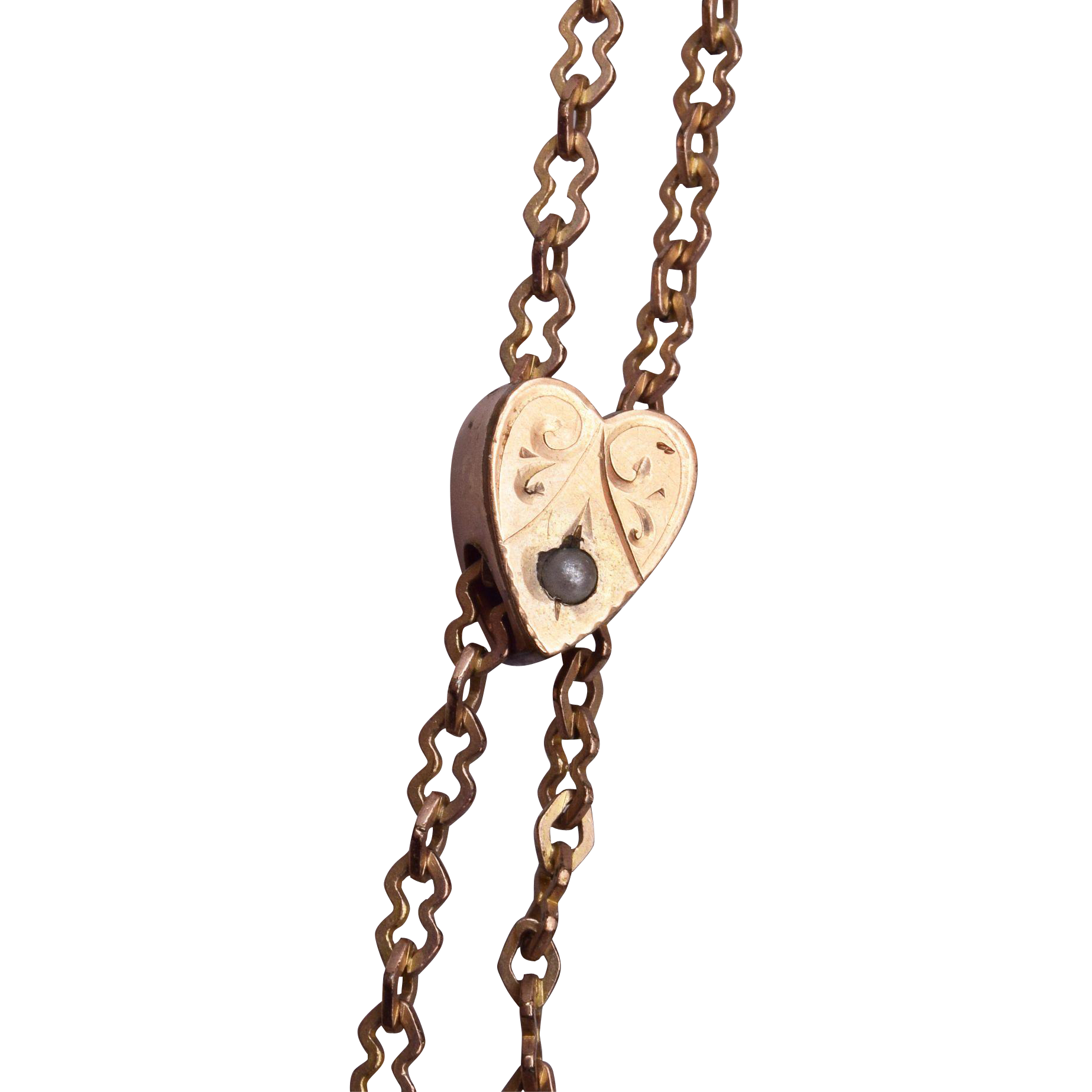 Heart Shaped Gold Filled Slide Necklace