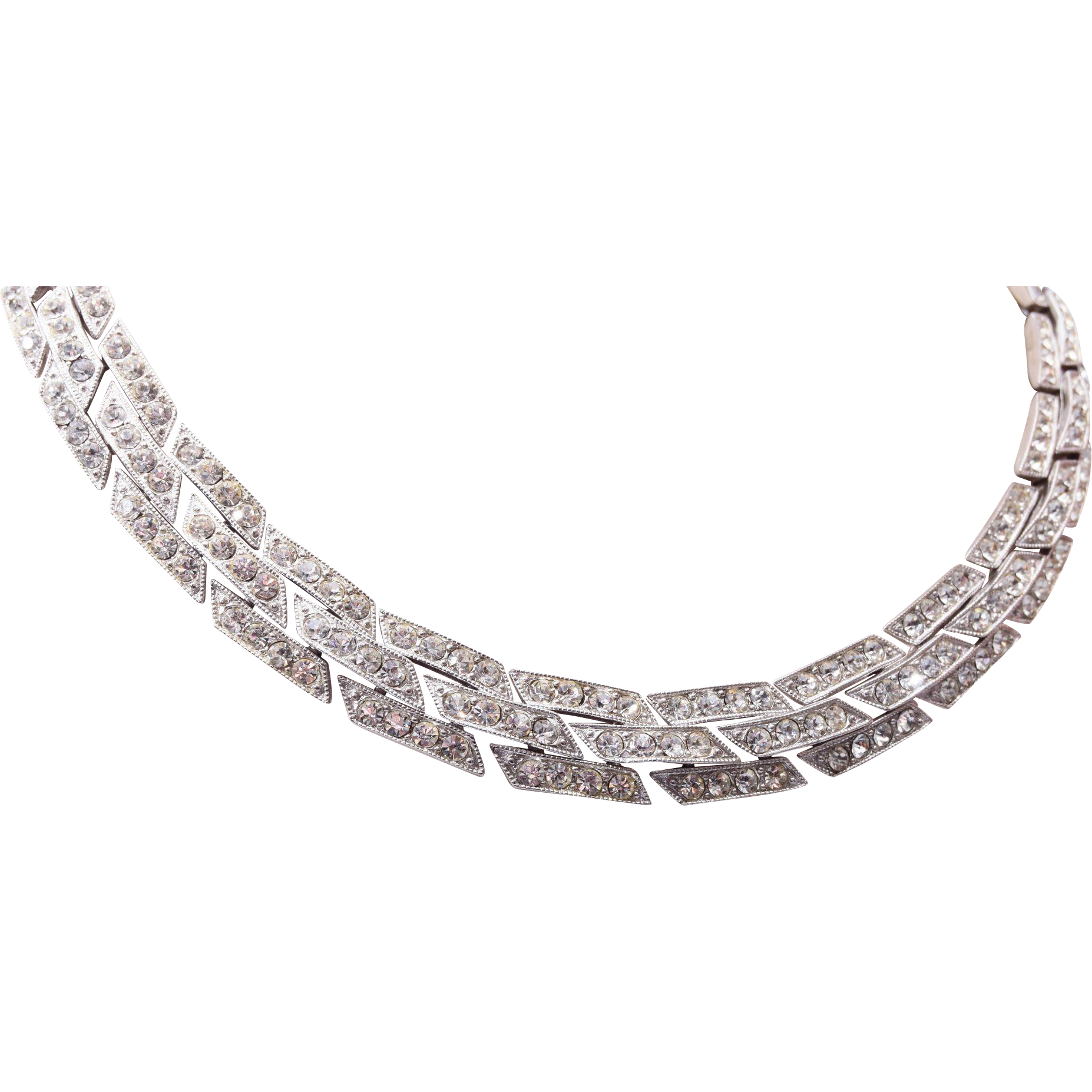 Ora Art Deco Rhinestone Necklace