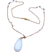 Opalescent Glass Necklace