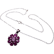 Sterling and Ruby Necklace