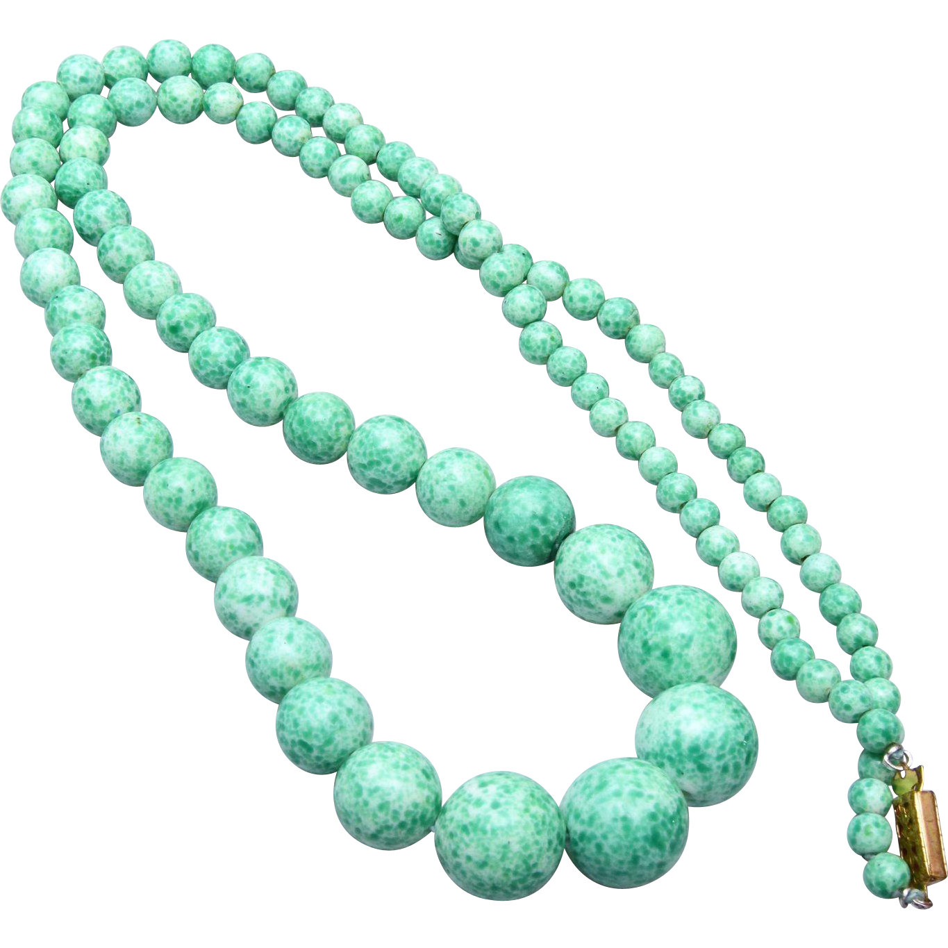 "25"" Graduated Peking Glass Necklace"