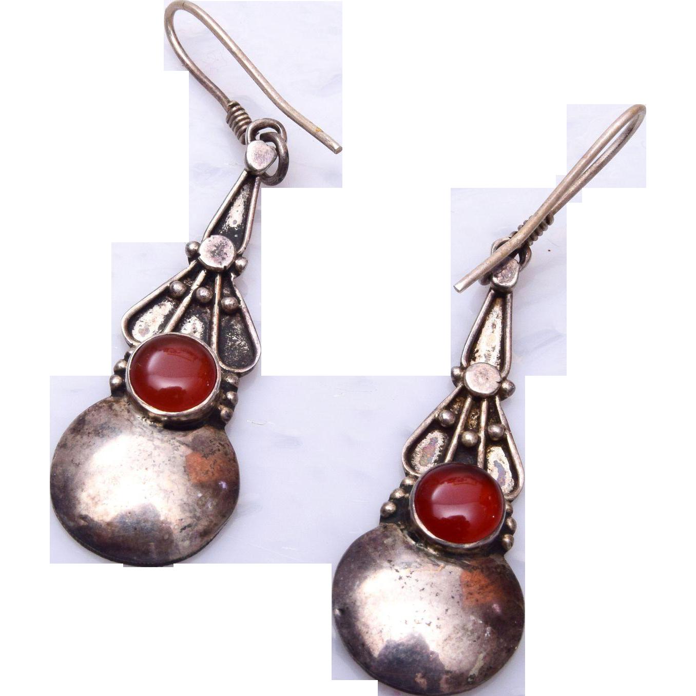 Sterling Silver Dangle Pierced Earrings