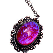 Sterling Dragon's Breath Necklace