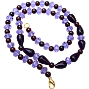 Color Change Alexandrite and Garnet Necklace